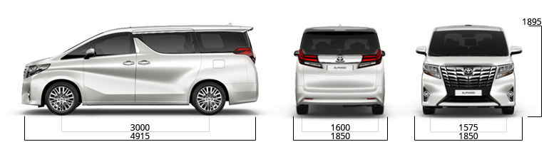 toyota alphard sizes